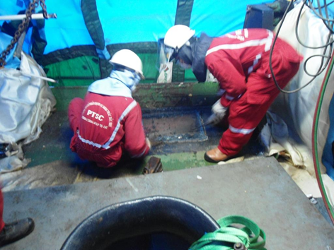 Dự án sửa chữa tank két trên tàu FPSO RUBY II cho khách hàng VOFT 04